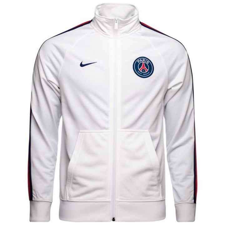 Nike PSG Paris Saint-Germain Core Trainer Jacket 2018/19 - White - Mens Image