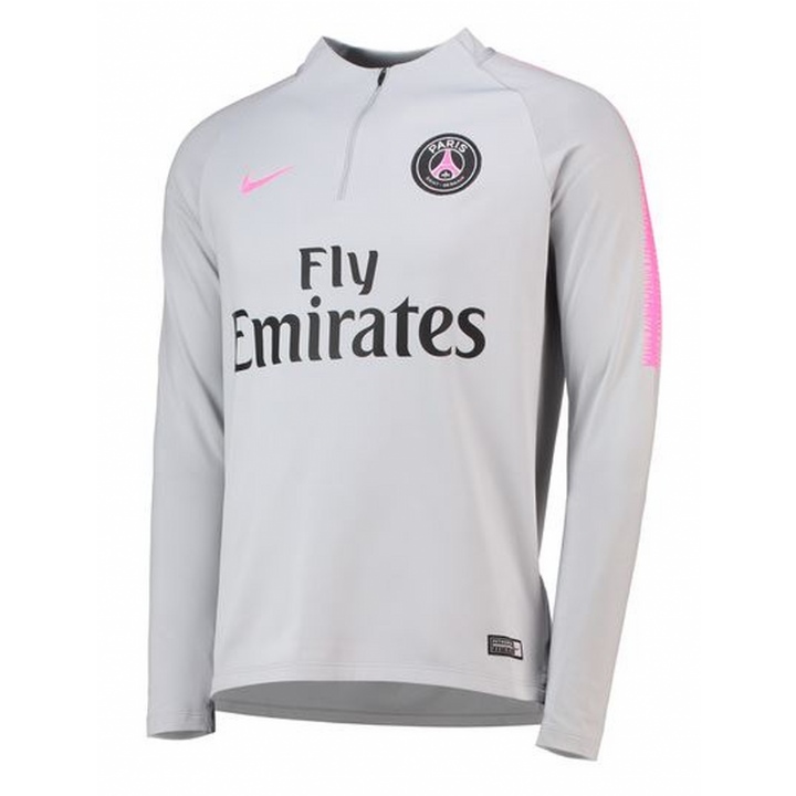Nike Paris Saint Germain Training Squad Drill Top 2018/19 - Grey - Mens Image