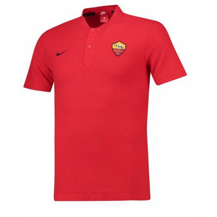 Nike AS Roma Authentic Grand Slam Polo Shirt 2018/19 - Red - Mens Image