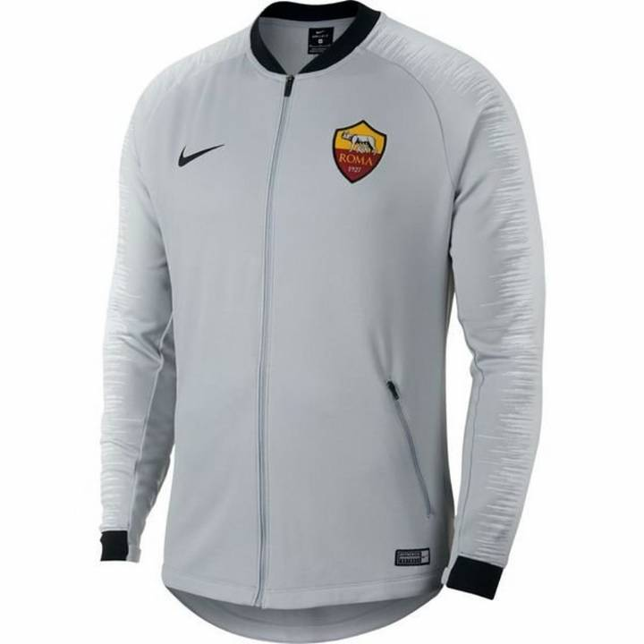 Nike AS Roma Training Anthem Jacket 2018/19 - Grey - Mens Image