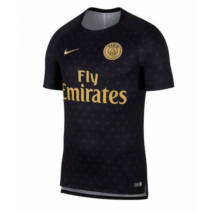 Nike PSG Paris Saint-Germain Squad Pre Match Shirt 2018/19 - Black - Mens Image