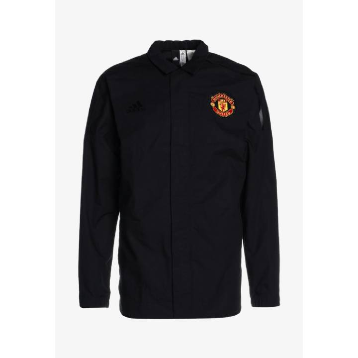 adidas Manchester United ZNE Woven Anthem Jacket 2017/18 - Black - Mens Image