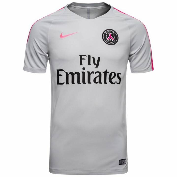 Nike PSG Paris Saint Germain Squad Training Shirt 2018/19 - Grey - Mens Image