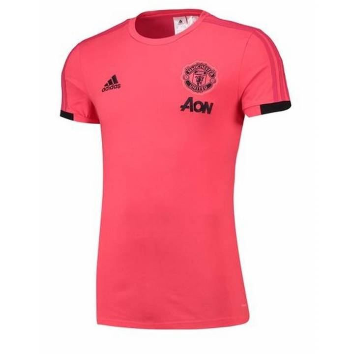 adidas Manchester United Training T-Shirt 2018/19 - Pink - Mens