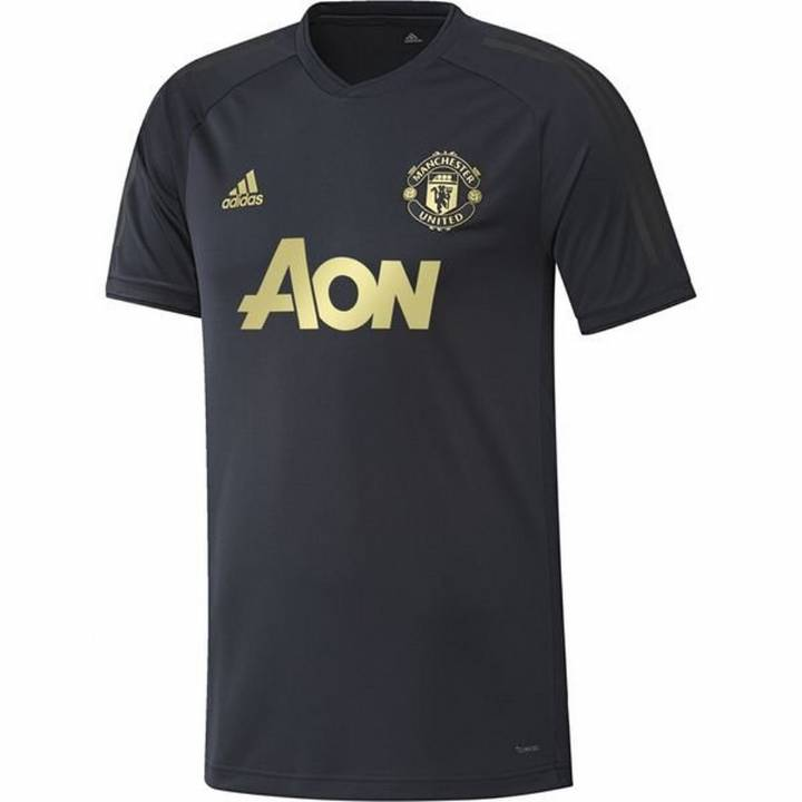 adidas Manchester United UCL Training Shirt 2018/19 - Navy - Mens Image