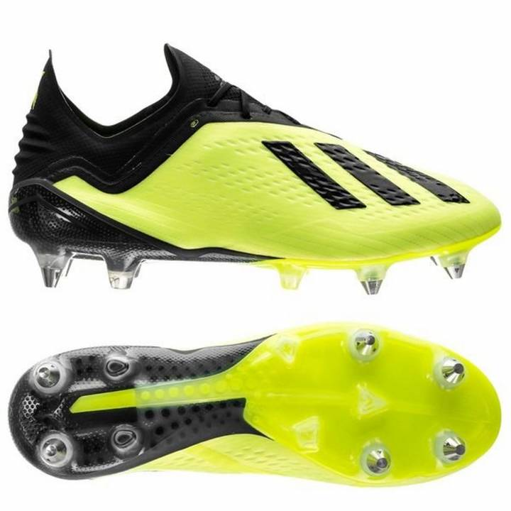 adidas X 18.1 Soft Ground Football Boots - Solar Yellow/Core Black/Footwear White Image