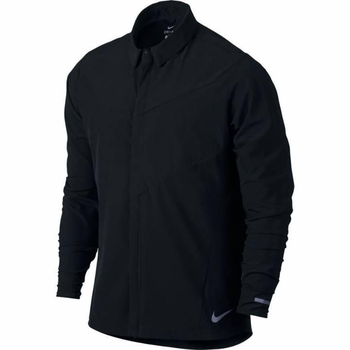 Nike City Full Zip Running Jacket - Black - Mens Image