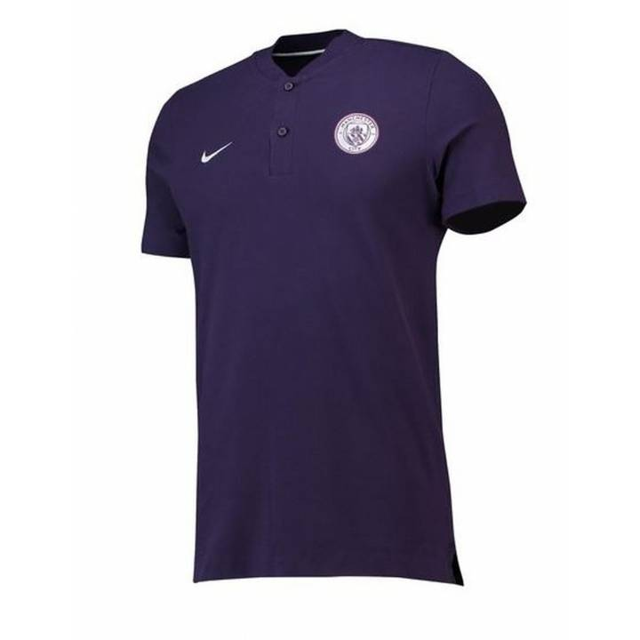 Nike Manchester City Authentic Grand Slam Polo Shirt 2018/19 - Purple - Mens Image