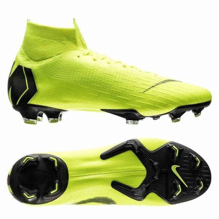 Nike Mercurial Superfly VI 6 Elite FG Firm Ground Football Boots - Neon / Black