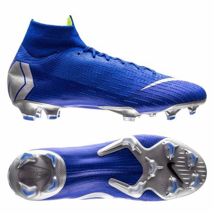 Nike Mercurial Superfly VI 6 Elite FG Firm Ground Football Boots - Racer Blue/Metallic Silver