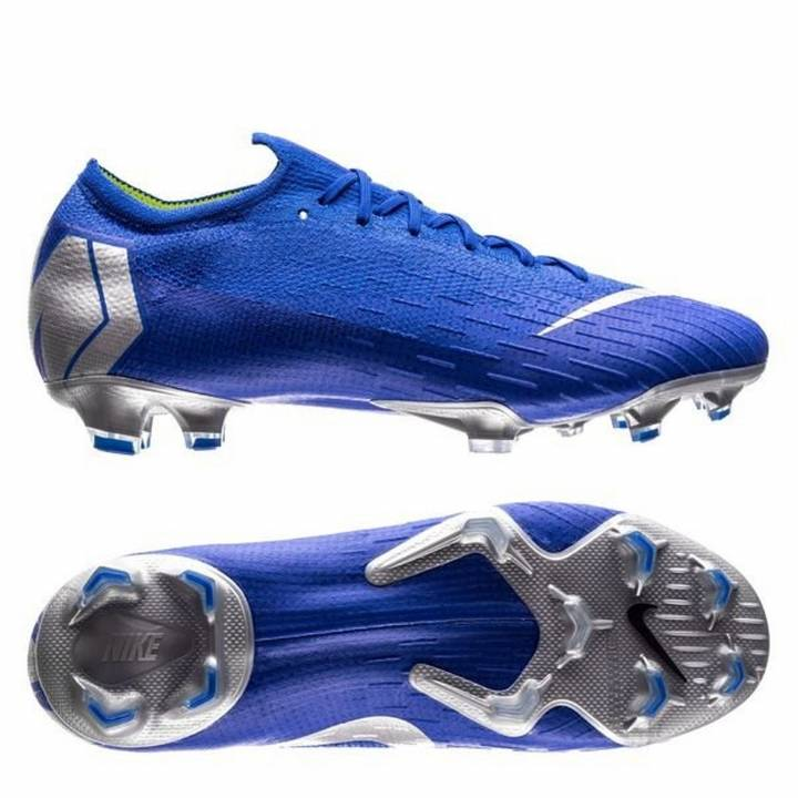 Nike Mercurial Vapor XII 12 Elite FG Firm Ground Football Boots - Racer Blue/Metallic Silver Image