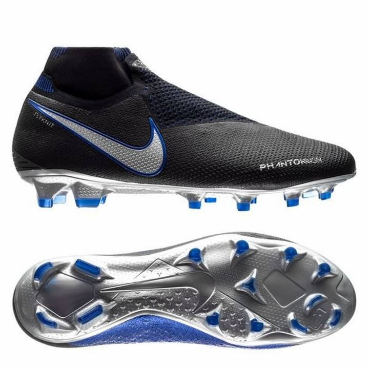 Nike Phantom Vision Elite Dynamic Fit FG Firm Ground Football Boots - Black/Metallic Silver Image