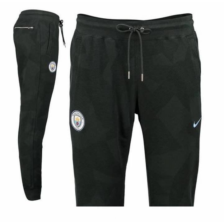 Nike Manchester City Training Sweat Authentic Cuffed Pants 2017/18  - Green - Mens Image