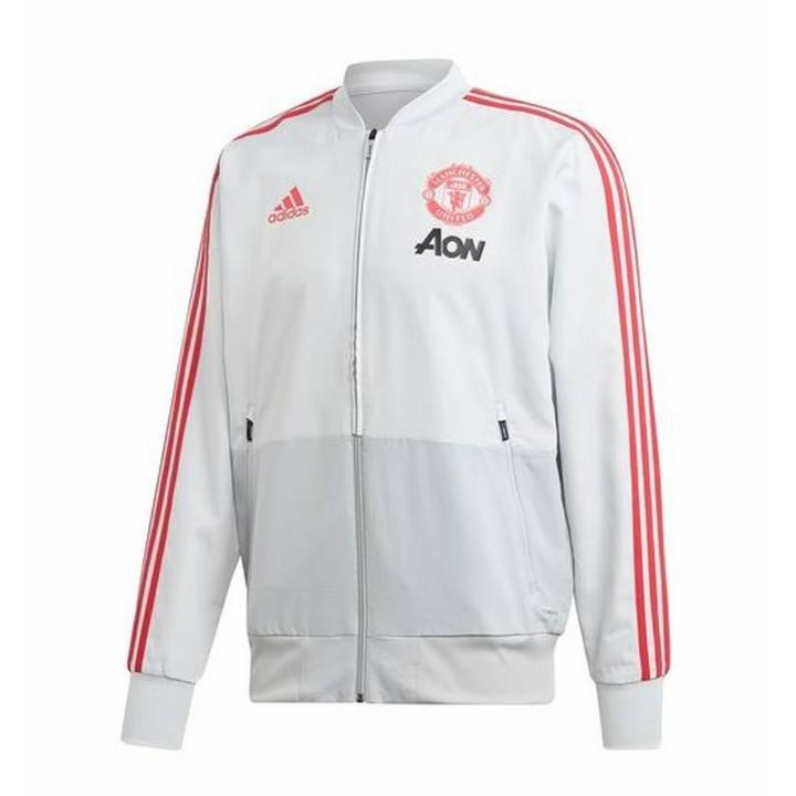 adidas Manchester United Training Presentation Jacket 2018/19 - Grey - Mens Image