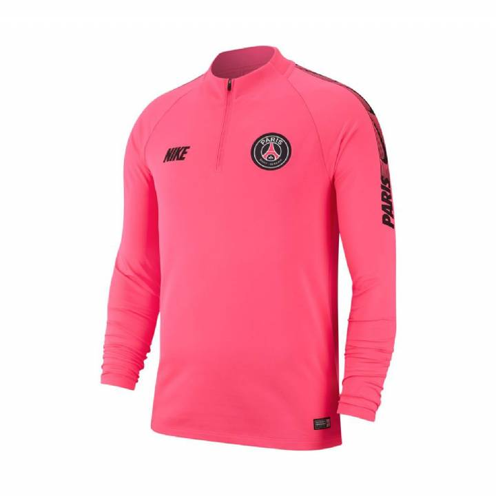 dd260d7d8109ac Nike Paris Saint-Germain Squad Training Drill Top 2018 19 - Pink - Mens