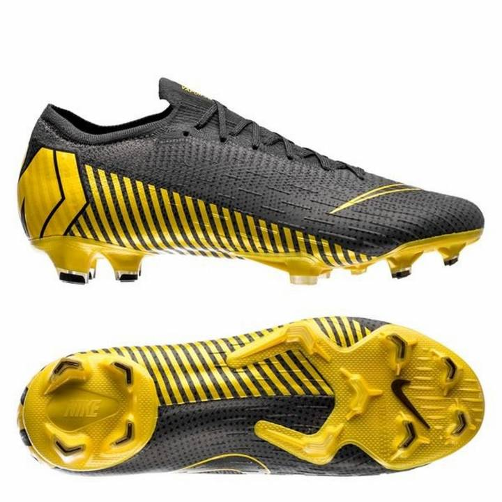 Nike Mercurial Vapor XII 12 Elite Firm Ground Football Boots - Thunder Grey/Yellow Image