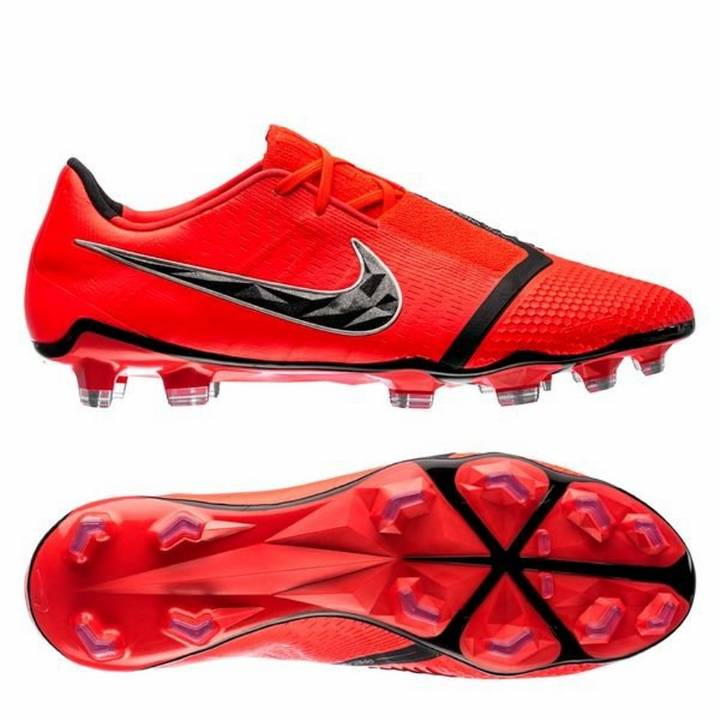 Nike Phantom Venom Elite Firm Ground Football Boots - Bright Crimson/Black Image