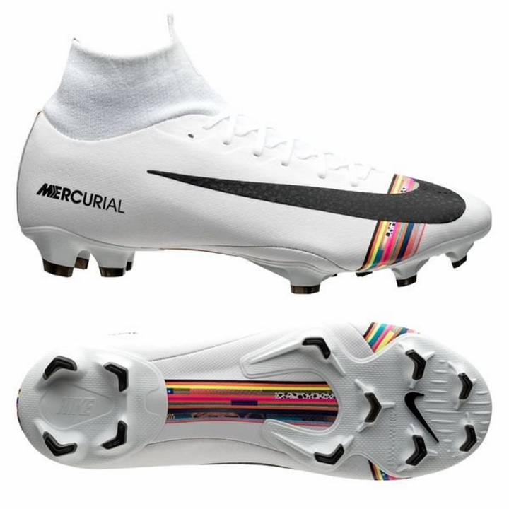 Nike Mercurial Superfly VI 6 Pro FG LVL UP Football Boots - Pure Platinum/Black/White