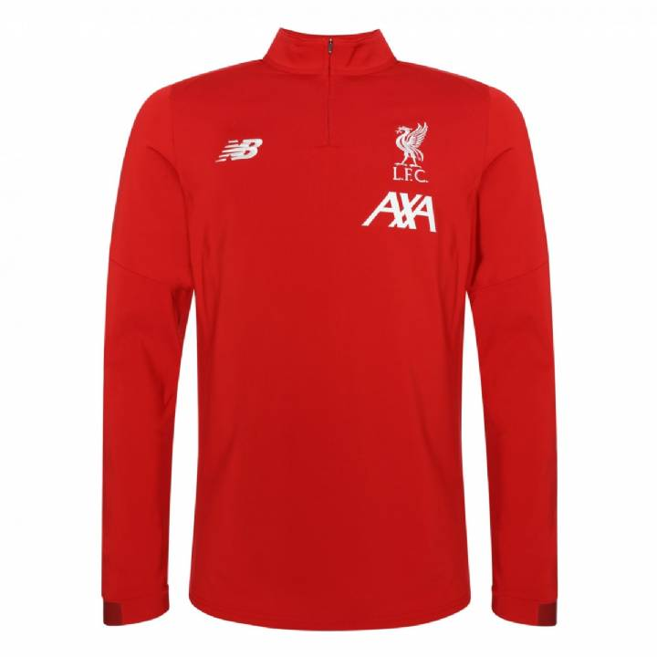 d4d791de5 New Balance Liverpool On-Pitch Long Sleeve Midlayer Top 2019 20 - Red -