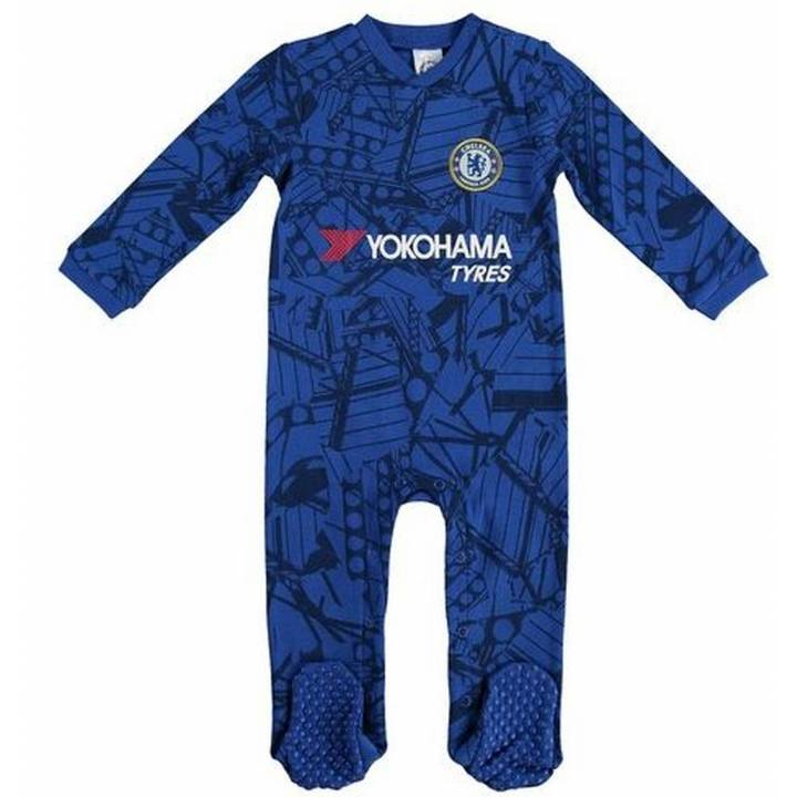 Chelsea Official Home Football Kit Baby Sleepsuit Babygrow 2019/20 Image