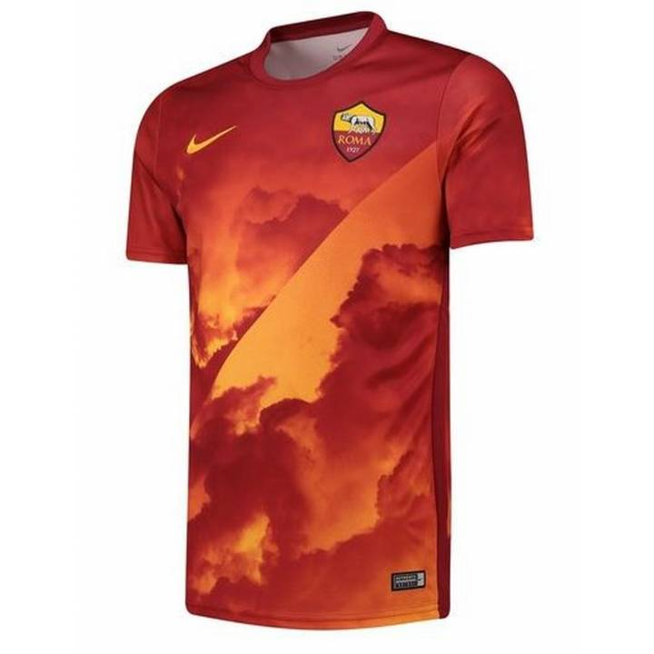 Nike AS Roma Pre Match Training Shirt 2019/20 - Gold - Mens Image