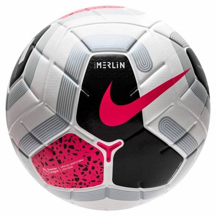 Nike Premier League Merlin Official Match Football - White/Black/Cool Grey/Racer Pink Image