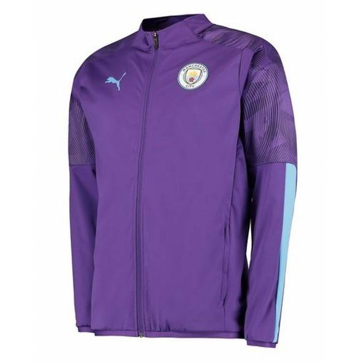 Puma Manchester City Training Woven Jacket 2019/20 - Purple - Mens Image