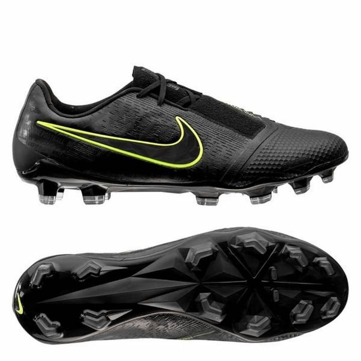 Nike Phantom Venom Elite FG Football Boots - Black/Volt Image