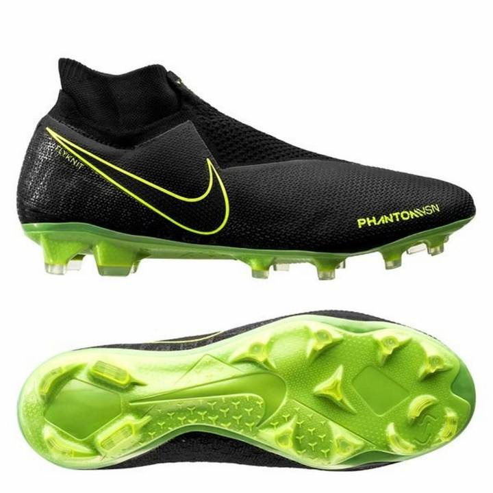 Nike Phantom Vision Elite DF FG Football Boots - Black/Volt Image